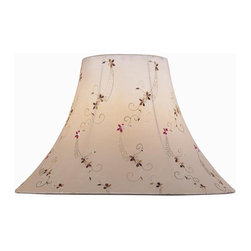 Lite Source - Light Beige Jacquard Bell Shade (6 in. Dia.) - Choose Size: 6 in. Dia.. 6 in. Shade:. Shade top: 6 in. Dia.. Shade bottom: 16 in. Dia.. Shade height: 12 in.. Weight: 1.95 lbs.. 7 in. Shade:. Shade top: 7 in. Dia.. Shade bottom: 18 in. Dia.. Shade height: 12.5 in.. Weight: 2.2 lbs.