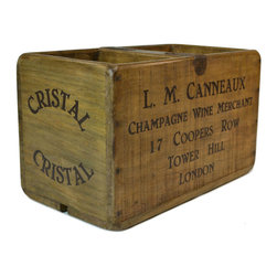 Lavish Shoestring - Consigned Champagne Wine Wooden Trug or Box, Vintage English - This is a vintage one-of-a-kind item.