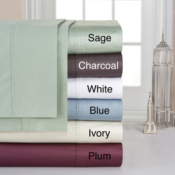 None - Pima Cotton Extra Deep Pocket 400 Thread Count Sheet Set - Slip into these silky deep-fitted oversize sheets to feel the comfort that you desire. You can pick from one of the several shades to match your bedding,the fitted sheet has deeper pockets that keep the sheet from pulling off your mattress.