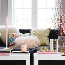 geay pink gold living room coffee table styling tips decor inspiration videos »