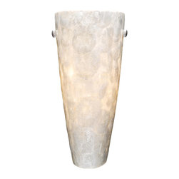 Vaxcel - Vaxcel Milano Wall Sconce Champagne Shell Glass - Milano Wall Sconce Champagne Shell Glass