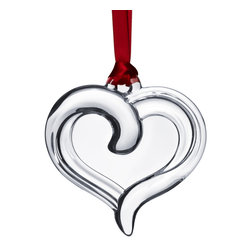 Orrefors - Ornaments Holly Days Heart (Clear) - Collect all of the Holly Days crystal ornaments from Orrefors!