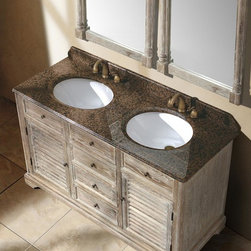 "59.25"" Paliano Double Sink Vanity - Driftwood -"