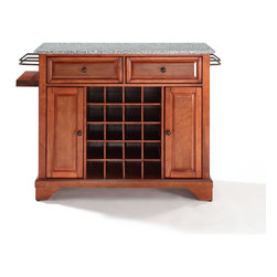 Crosley - Lafayette Solid Granite Top Wine Island - Dimensions:  18 x 48 x 32.5 inches