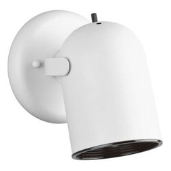 Progress Lighting - Progress Lighting White 1-light Spotlight Fixture P6155-30 - Shop for Lighting & Fans at The Home Depot. Metal cylinder style light with integral swivel to provide accent or task lighting. Install as a ceiling or wall mount fixture.