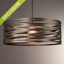 Modern Pendant Lighting Tempest Drum Pendant by Lightspann Studio