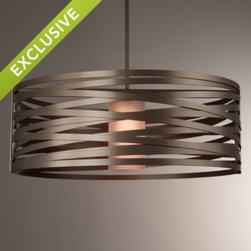 Tempest Drum Pendant by Lightspann Studio -