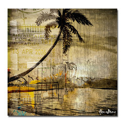 Ready2HangArt - 'Seaside Escape' Oversize Canvas Wall Art by Alexis Bueno - This tropical abstract canvas art is the perfect addition to any contemporary space. It is fully finished, arriving ready to hang on the wall of your choice.