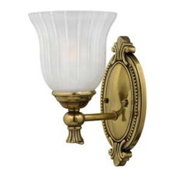 Hinkley - Hinkley-5580BB-Francoise Bath Fixture - Under four generations of family�leadership, Hinkley Lighting has transformed from a small outdoor lantern company to a global brand intent on bringing you the best in style, quality and value. We thrive on personal relationships, regional roots, inspiring design and a family atmosphere that is encouraged at every level of our company. If the past 90 years are any indication, it is with great pride and excitement that we set our sights on the horizon and extend our commitment to keeping your �Life Aglow.�