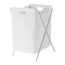 IKEA of Sweden - JÄLL Laundry bag with stand - Laundry bag with stand, white
