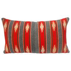One Kings Lane - Home on the Range - Red & Gray Navajo Weaving Pillow