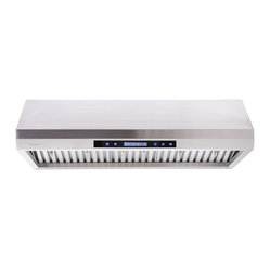 "Cavaliere - Cavaliere 30"" Under Cabinet Hood - Under Cabinet Range Hood with 4 Speeds, Timer Function, LCD Keypad, Baffle Filters, and Halogen Lights"