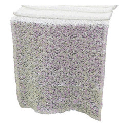 Chambury Casa - Sequined Table Runner, White, 12x108 - Celebrate your special day with your reception accented with these beautiful sequined table runners.