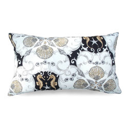 Limpet Outdoor Pillow - Impressive and striking with its neutral shell pattern, the Limpet Outdoor Pillow in mink is an ideal pick for a nautical or coastal theme when a bold look is needed in a room that has fair amounts of white. Perfect for a guest bedroom chair or a beautiful sofa, switching out accent pillows is a great way to update the look of a space without redecorating the entire interior.