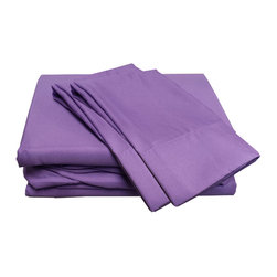Divatex Home Fashions - Purple Queen Sheet Set Lilac Bedding - FEATURES:
