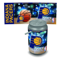 Picnic Time - New York Knicks Bongo Cooler - The Extra large Can Cooler by Picnic Time is a hard-sided cooler and large beverage can replica that also doubles as a seat. It holds twenty seven 12-oz. cans and has a 5 gallon capacity. It features a snugly fitting, fully removable lid and folding handle. Perfect for the beach, patio, tailgating, parties, and sporting events. Made of HDPE.; Decoration: Digital Print; Includes: 1 removable lid