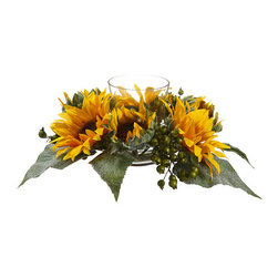 Silk Plants Direct - Silk Plants Direct Sunflower and Berry Centerpiece (Pack of 3) - Silk Plants Direct specializes in manufacturing, design and supply of the most life-like, premium quality artificial plants, trees, flowers, arrangements, topiaries and containers for home, office and commercial use. Our Sunflower and Berry Centerpiece includes the following:
