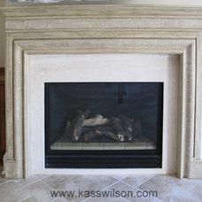 Rustic Indoor Fireplaces by Kass Wilson/ WallsTreat Studio