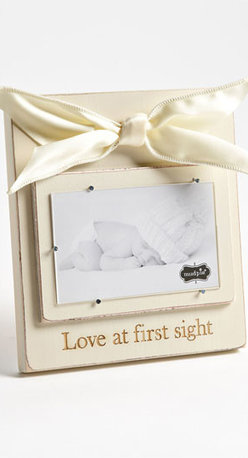 Mud Pie 'Love At First Sight' Wooden Picture Frame (3x5) - A rustic wooden picture frame easily allows you to slip your favorite photo of your darling one underneath silver nails that will keep pictures in place without causing wear and tear. Color(s): cream, heather. Brand: MUD PIE. Style Name: Mud Pie 'Love At First Sight' Wooden Picture Frame (3x5). Style Number: 621635.