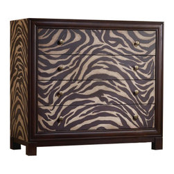 Hooker Furniture - Soraya Chest - This exotic chest has seen the world and brought it home to you. In your bedroom it will spice up your aesthetic with its alluring detailing and unusual finish. Imagine what your sweaters will talk about when the lights go down.