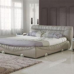 Alqo Leather Bedroom Set - Furnish your bedroom with just one purchase with our 3-Pieced Alqo Leather Bed Set.