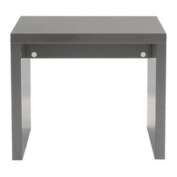 Euro Style - Euro Style Abby Side Table X-YRG61790 - Form and function in perfect harmony. All of the Abby Tables are made of a unique, lightweight wooden honeycomb material, giving you the durability you require, along with an easy approach to re-arranging a room to suit the function. In gray or white lacquer.