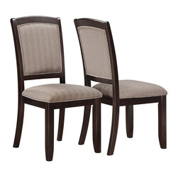 Monarch Specialties - Monarch Specialties I 1814 Cappuccino 38 Inch Dining Chair [Set of 2] - Create a casual fashion statement to your dining area with these rich cappuccino chairs. With the seats and back upholstered in a padded beige and a look easy care material, these chairs will bring a contemporary appeal to your dining space, providing years of lasting enjoyment. Dining Chair (2)