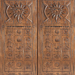 "Mexican Style Prehung Double Door, Carved Aztec Motif, Mahogany - SKU#    35-Sol_2Brand    AAWDoor Type    ExteriorManufacturer Collection    International Collection Exterior DoorsDoor Model    Door Material    WoodWoodgrain    MahoganyVeneer    Price    3220Door Size Options    2(30"") x Height"" (5'-0"" x 6'-8"")  $02(32"") x Height"" (5'-4"" x 6'-8"")  $02(36"") x Height"" (6'-0"" x 6'-8"")  +$402(42"") x Height"" (7'-0"" x 6'-8"")  +$4602(36"") x Height"" (6'-0"" x 7'-0"")  +$2802(30"") x Height"" (5'-0"" x 8'-0"")  +$6402(32"") x Height"" (5'-4"" x 8'-0"")  +$6402(36"") x Height"" (6'-0"" x 8'-0"")  +$6802(42"") x Height"" (7'-0"" x 8'-0"")  +$680Core Type    SolidDoor Style    Southwest StyleDoor Lite Style    Door Panel Style    Hand Carved PanelHome Style Matching    SouthwestDoor Construction    Solid Stiles and RailsPrehanging Options    PrehungPrehung Configuration    Double DoorDoor Thickness (Inches)    1.75Glass Thickness (Inches)    Glass Type    Glass Caming    Glass Features    Glass Style    Glass Texture    Glass Obscurity    Door Features    Door Approvals    Door Finishes    Door Accessories    Weight (lbs)    850Crating Size    25"" (w)x 108"" (l)x 52"" (h)Lead Time    Slab Doors: 7 daysPrehung:14 daysPrefinished, PreHung:21 daysWarranty    1 Year Limited Manufacturer WarrantyHere you can download warranty PDF document."