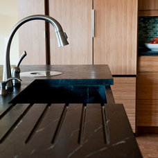 Contemporary Kitchen Sinks by Green Mountain Soapstone
