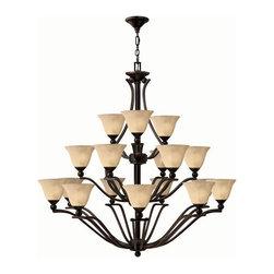 Hinkley Lighting - Hinkley Lighting 4659OB Bolla 3 Tier 18-Light Chandelier in Olde Bronze - Hinkley Lighting 4659OB Bolla 3 Tier 18-Light Chandelier in Olde Bronze