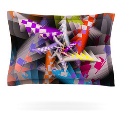 """Kess InHouse - Michael Sussna """"Sticker Thicket"""" Multicolor Pillow Sham (Cotton, 40"""" x 20"""") - Pairing your already chic duvet cover with playful pillow shams is the perfect way to tie your bedroom together. There are endless possibilities to feed your artistic palette with these imaginative pillow shams. It will looks so elegant you won't want ruin the masterpiece you have created when you go to bed. Not only are these pillow shams nice to look at they are also made from a high quality cotton blend. They are so soft that they will elevate your sleep up to level that is beyond Cloud 9. We always print our goods with the highest quality printing process in order to maintain the integrity of the art that you are adeptly displaying. This means that you won't have to worry about your art fading or your sham loosing it's freshness."""