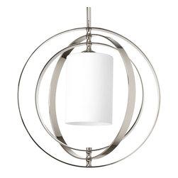 Progress Lighting - Progress Lighting P7078-104 1-Light Medium Foyer Lantern Etched Opal Glass Shade - Progress Lighting P7078-104 1-Light Medium Foyer Lantern Etched Opal Glass Shade