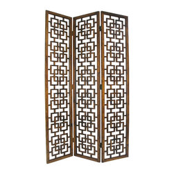 Wayborn - Wayborn Chinese Oakwood Full House Room Divider in Brown - Wayborn - Room Dividers - 5318
