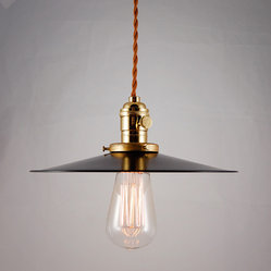 Hillsboro Black Enameled Pendant - Southern Lights Electric