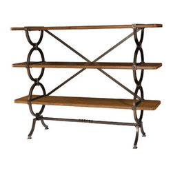 Hammary - Hammary New River 3-Shelf Etagere in Rustic Alder - 3-Shelf Etagere in Rustic Alder Belongs to New River Collection by Hammary