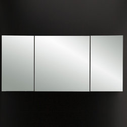 Lacava Plaza Triple Mirror Medicine Cabinet - If you're looking for a large, wood frame medicine cabinet - here's a great option with 3 doors, 3 mirrors and tons of storage. Comes in various wood species and finish options.