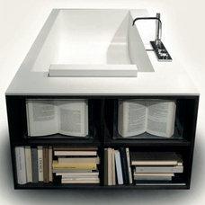 Bathtub Shelves: Bizarre Built-In Bathroom Storage Space   Designs & Ideas on Do