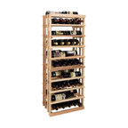 Wine Cellar Innovations - Vintner 4 ft. Open Vertical Display Wine Rack (Rustic Pine - Unstained) - Choose Wood Type and Stain: Rustic Pine - UnstainedBottle capacity: 45. Custom and organized look. Versatile wine racking. Displays five wine bottles left to right, or three wine bottles front to back. Can accommodate just about any ceiling height. Optional base platform: 18 in. W x 13.38 in. D x 3.81 in. H (5 lbs.). Wine rack: 18 in. W x 13.5 in. D x 47.19 in. H (4 lbs.). Vintner collection. Made in USA. Warranty. Assembly Instructions. Rack should be attached to a wall to prevent wobbleThe Vintner Series Open Vertical Display provides the perfect showcase for the prized wine bottles you would like to show off.. Rack should be attached to a wall to prevent wobble