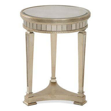 Bassett Mirror - Bassett Mirror Borghese Mirrored Round End Table - Borghese Mirrored Round End Table
