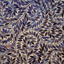 Glass mosaic - Jacqueline Vine mosaic in jewel glass creates a swirl of natural beauty to any wall application. Bathe an entire backsplash or create a feature panel.