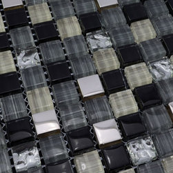 Glass Mosaic Tile - Product Description:Item#: COB0118Collection: Crystal Glass TileColor: Color Blend(Black and Brown)Surface Finish: Glossy GlassShape: SquareChip Size: 3/5x3/5In. (15mm x 15mm)Thickness: 5/16 In. (8mm)Each sheet of this glass tile is approximately 1 sq ft per sheet and is mesh mounted on high quality fiber glass for easy installation of your glass mosaic tile projects.Application: Glass mosaic tiles are impervious to the water, thus it is great for both interior and exterior use so moisture is not an issue. Mosaic glass tiles are great on floors and walls and have been most popular in bathrooms, spas, kitchen backsplash, wall facades and pools as well as a variety of other applications.Characteristics: Glass mosaic tile has a zero water absorption rate, and this tile exceeds ANSI standards for water absorption for mosaic tile. It is strong, durable, contamination free, and only the best quality tiles are selected as our tiles are inspected for blemishes before shipment.