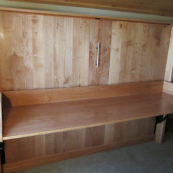 Old Greenwood Resort in Truckee, CA - Another view of the Double Horizontal Murphy DeskBed in Alder wood (slightly different lighting).