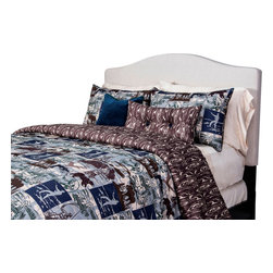 SIS Covers - SIS Covers North Shore Duvet Set - 6 Piece Full Duvet Set - 5 Piece Twin Duvet Set Duvet 67x88, 1 Std Sham 26x20, 1 16x16 dec pillow, 1 26x14 dec pillow. 6 Piece Full Duvet Set Duvet 86x88, 2 Std Shams 26x20, 1 16x16 dec pillow, 1 26x14 dec pillow. 6 Piece Queen Duvet Set Duvet 94x98, 2 Qn Shams 30x20, 1 16x16 dec pillow, 1 26x14 dec pillow. 6 Piece California King Duvet Set Duvet 104x100, 2 Kg Shams 36x20, 1 16x16 dec pillow, 1 26x14 dec pillow6 Piece King Duvet Set Duvet 104x98, 2 Kg Shams 36x20, 1 16x16 dec pillow, 1 26x14 dec pillow. Fabric Content 1 100 Polyester, Fabric Content 2 100 Polyester, Fabric Content 3 100 Polyester. Guarantee Workmanship and materials for the life of the product. SIScovers cannot be responsible for normal fabric wear, sun damage, or damage caused by misuse. Care instructions Machine Wash. Features Reversible Duvet and Shams.