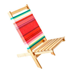 Gallant and Jones - Beach Chair Waikiki - Folding Beach Chair with Fabric Back