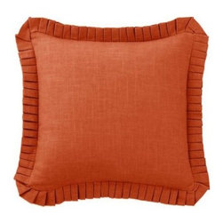 Waverly Grand Bazaar 20 in. Square Accent Pillow - A coordinating solid that's anything but boring, the Waverly Grand Bazaar 20 in. Square Accent Pillow spruces up your bedding in style. The faded burgundy color provides a relaxing backdrop to other patterns and features a stacked pleated trim for extra va-va-voom. Kick up the color and texture of your bed with this pillow.About Ellery HomestylesOffering curtains, bedding, throws, and specialty products, Ellery Homestyles is a leading supplier of branded and private-label home-fashion products. The products they care deliver innovation in fashion, function, and design and include names like Eclipse, Curtainfresh, SoundAsleep, ComfortTech, Vue, and Waverly. Their 357,000 square foot facility in Lumber Bridge, North Carolina includes a high-speed pillow filling operation with a capacity of approximately 40,000 pillows a week.