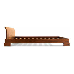 Tansu / Kobe - Kobe Platform Bed, Mahogany, Full - The Kobe Bedroom Collection pays tribute to its traditional lineage while maintaining a distinct, modern look. The collection features clean lines and intersecting planes, revealing its subtle Asian influences. Each piece is constructed with solid Mahogany and finished with a warm Java color that enhances the natural beauty of the hardwood. Combine that with its rustic bronze corner caps and drawer handles, and this collection will give your bedroom a contemporary, tropical look. The Kobe Collection is fully equipped to outfit your bedroom with a number of furniture pieces, making it incredibly functional and versatile as well.The Kobe Platform Bed is exotic yet simple, with a modern low profile design featuring strong lines and angles. Pair with the rest of the Kobe Balinese bedroom collection for a tropical South Pacific bedroom look. Available in Full, Queen, CA King and Standard King sizes.