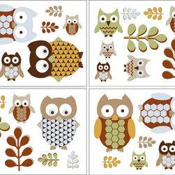 Sweet Jojo Designs - Night Owl Wall Decals - Set of 4 by Sweet Jojo Designs - The Night Owl Wall Decals - Set of 4 by Sweet Jojo Designs, along with the bedding accessories.