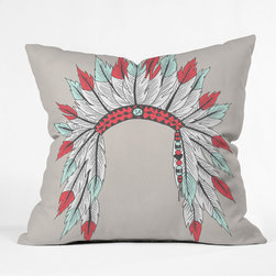 """DENY Designs - Wesley Bird Polyester Dressy Indoor/Outdoor Throw Pillow - Do you hear that noise? It's your outdoor area begging for a facelift and what better way to turn up the chic than with DENY Designs' Indoor/Outdoor Throw Pillows. Made from water and mildew proof woven polyester, our Indoor/Outdoor Throw Pillow is the perfect way to add some vibrancy and character to your boring outdoor furniture while giving the rain a run for its money. Features: -Collection: Wesley Bird. -Material: Woven polyester. -Mildew resistant. -Sealed closure. -Spot treatment with mild detergent. -Manufacturing: 6 Color dye process, custom printed for every order. -Made in the USA. -Closure: Concealed zipper with bun insert. -Medium dimensions: 18"""" H x 18"""" W x 5"""" D. -Large dimensions: 20"""" H x 20"""" W x 6"""" D. -Product weight: 2 lbs."""
