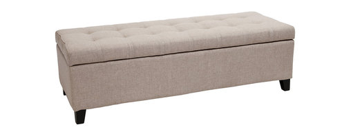 Great Deal Furniture - Santa Rosa Beige Tufted Fabric Storage Ottoman Bench - Hide and seat: This, tufted bench can seat two or three people easily, all while containing any number of items in a spacious storage base. It can easily fit at the foot of a bed, front of a sofa or along the wall of an entryway. And should you seek blankets, pillows, scarves or hats, they'll be right where you need them.