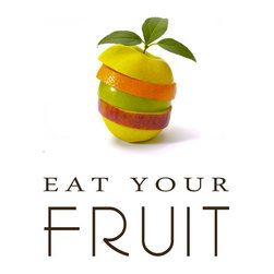 Groovy Gal Designs Online - Eat Your Fruits Giclee Print, 8 x 10 - Need inspiration to eat more fruit? This wonderful print will encourage you to eat your fruit every day!